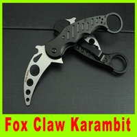 Cheap New arrival Fox Claw Karambit Training Folding blade knife Outdoor gear survival hunting knife camping knife knives gift 656L