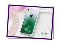 Wholesale Floating glitter Heart Running Quicksand Liquid Dynamic Hard Case clear transparent shining Cover For iphone6 iphone6S iphone5 S iphone4S