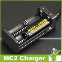 Wholesale 100 Genuine XTAR MC2 Charger intelligent Battery charger For Li ion Battery VS MC1 VC2 VC4 VP2 VP4