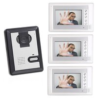 Wholesale 7 Inch LCD Color Video Door Phone Doorphone Doorbell Kit camera monitor Night Vision Door Camera Video Intercom