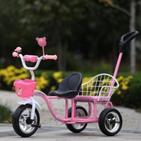 baby bike - Hot Sales Large Wheels Child Tricycle Double Seats Summer Kid Outdoor Activity Toys Portable Baby Bike Strollers JN0040 smileseller