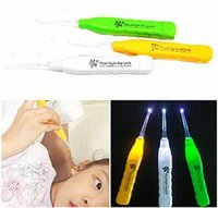 Wholesale Piece New Luminous LED Flashlight Dig Ear Grilled Ear Clean Mon Help Kids Wax Remover