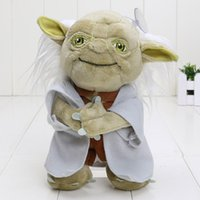 Wholesale High quality m Movie star wars Master Yoda Mimion Master of wisdom Plush Toys Stuffed Dolls Chirstmas Gifts