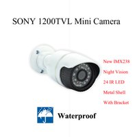 Cheap 960 HD 1 3 sony CMOS 1200TVL CCTV camera waterproof with bracket Bullet security Camera IR outdoor day night mini camera