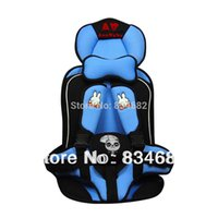 Wholesale Baby Car Seat Portable Child Car Safety Seat Rabbit Pattern Annbaby Car Cushion Blue Color Low Price