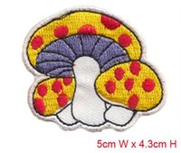 applique scissors - nice mushroom Embroidered patch iron on Motif sew on iron on Applique DIY accessory