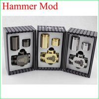 Cheap Hammer pipe Mod Kit E cigarette E pipe Mod Mechanical Hammer battery body for 510 thread atomizer electronic cigarette in stock DHL to USA
