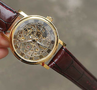 Cheap Original Brand Winner Gold Fashion Casual Stainless Mens Mechanical Watch Skeleton Hand Wind Watches For Men Leather Wristwatch Transparent