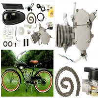 bicycle engine - 80CC STROKE CYCLE SILVER BLACK MOTOR MUFFLER MOTORIZED BICYCLE BIKE ENGINE GAS KIT