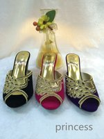 Wholesale Pretty Party Set Match Shoes With Handbag Noble Peacock Rhinestone Flannel Shoes Black Purple Rose Evening Bag
