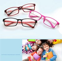Wholesale 10pcs Spring Hinge TR90 Kids Frame Optical Eye Glasses With Lens Children Eyeglasses Ultra Light Student Teens Eyeglasse Spectacle Frame