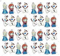 Wholesale EMS or DHL Frozen Anna Elsa Olaf snowman DIY Metal pendants Charms Jewelry Making Gifts MIXED ORDER