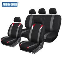 Wholesale AUTOYOUTH Full Car Seat Cover Universal Fit Most Car Seat Polyester Fabric Interior Accessories Seat Covers Black Car Style