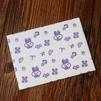 Wholesale Cute Rabbit Dairy cow Food Wrapping Paper Greaseproof Baking Paper Soap packaging paper candy paper