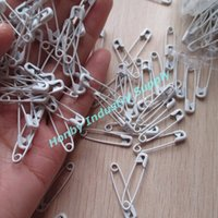 Wholesale Pack of Mini pure white metal safety pin good for hang tags