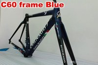 Wholesale T1000 Colnago c60 Blue carbon fiber bike frameset size cm cm cm cm cm R5 frameset