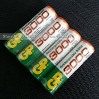 Cheap 4 Pieces lot Original AA 1.2V Rechargeable NI-MH Batteries AA 3000 mAh battery AA bateria