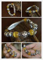 antique opal bracelet - Fashion National wind yellow opal bracelet Garnet Bracelet Tibetan Jewelry with Cats Eye antique silver For Jewelry PH7556