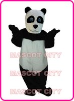 Mascot Costumes adult panda suit - Panda Mascot Costume Adult Size Christmas Halloween Party Carnival Cosply Character Outfit Suit SW1066
