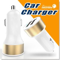 Wholesale 2 port Dual Port Universal USB Car Charger Compatible with apple iphone Andriod Phones Tablets and Smart Phones Portable Travel Chargers