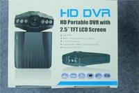 2.5 '' cámara de la cámara del registrador del coche DVR de las cámaras de la leva del coche cámara negra del cuadro H198 de la versión de la noche Cámara de la rociada del registrador video 6 IR LED