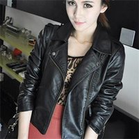 leather jackets for women - 2014 New Fashion Fall Winter Faux Leather Women Jackets Black Plus Size Zipper Jackets For Women Casual Women Coats
