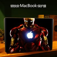 Wholesale Iron Man Creative personality Vinyl Local Decal Sticker Skin for Apple MacBook quot air11 quot quot Pro13 quot quot quot Retina13 quot quot