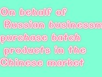 Wholesale On behalf of Russian businessmen purchase batch products in the Chinese market