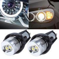 acura sedan - 2Pcs Angel Eyes Car Auto White LED Light Fit For BMW E90 Sedan