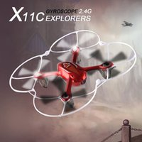 Wholesale HOT Drones Syma X11C Explorers Helicopter Quadcopter CH GHz HD FPV Axis Gyro GB TF Card With HD Camera Remote control free ship