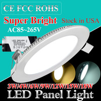 led downlight - Ultra Thin design w w w w w w w led panel downlight led recessed ceiling light SMD2835 painel lights AC85 V CE ROHS UL FCC