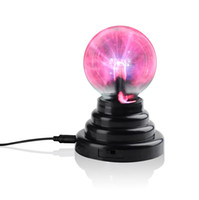 Cheap Magic Crystal Plasma Light Ball Electrostatic Induction Balls 3 inch 5W LED Lights USB Power & AA Battery Party Decoration Children Gift DHL
