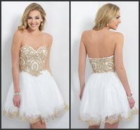 baby doll formal dresses - 2015 Homecoming Dresses Baby Doll Short Sweetheart Off White Gold Sequins AB Stones Sexy Formal Party Dress Blush Short Cocktail Gowns