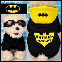 Wholesale Newest Design Hot Sale Good Quality Cotton Warm Antumn Winter Pets Clothing Teddy Poodle Batman Dog Clothes Hoody