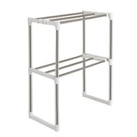 double ovens - Hot Stainless Steel Multifunctional Storage Rack Microwave Oven Shelf Rack Adjustable Standing Double Kitchen Holders JE0067