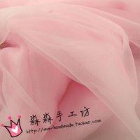 Wholesale Pink is tender pink organza glass yarn thin fabrics KeGen yarn model dresses