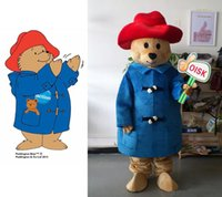 Wholesale High Quality Paddington Bear Mascot Costume Adult Character Costume Fancy Dress