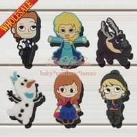 anna clogs - New Hot Elsa Anna Princess Shoe Charms for jibz shoe Accessories and Decoration Shoe Ornaments for clogs Kids Best Gifts