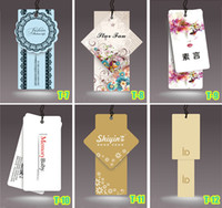 Wholesale Personalized colored printed paper tags labels hang tag custom brand logo for clothing garment