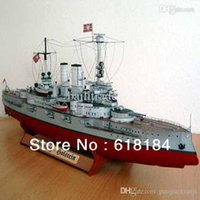 battleship paper - Free shipment diy paper model Battleship cm Long German Battlecruiser Schleswig Holstein military naval ship d puzzles