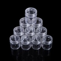 beads plastic beads - NEW Round Storage Bottle Plastic Empty Case Pot Container For Nail Art Rhinestone Bead Gems H14663