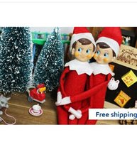 Wholesale 2014For Christmas Bonbon Box elf on the shelf action figure collection vintage toy Classic Christmas doll