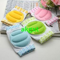 Wholesale New Comfortable Baby Kids Crawling Knee Caps Safety Walking Protector ColorsG681