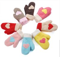 Wholesale FASHION streets wool gloves female winter Korean version of the lovely Ms warm winter love gloves thick gloves free shoping A005