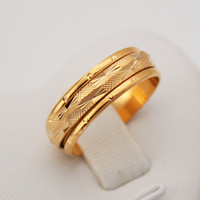 Band Rings asian items - 18K Real Gold Plated Rotatable Circle Rings MM Lord Of The Kings Hot Sale Items quot K STAMP quot With Giftbox MGC R106