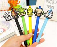 Wholesale 2016 New star wars Stationery Cute Cartoon Neutral Pen Student School Gel pen Office supplies Star Wars Pens New year Gift for kids