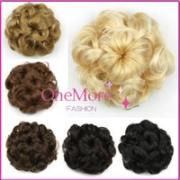 hair bun piece - Synthetic Curly Hair Bun Chignon Bun Hairpiece Fake Hair Bun Chignon Hair Pieces Extension Natural Hair Roll Donut