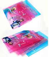 Wholesale Frozen Anna Elsa Olaf Document Bag pen Pencil bag Envelope A4 folder Filing Storage cartoon movie bags xmas gift
