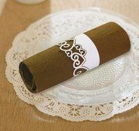 paper plate holders - 120pcs Heart Shape Paper Napkin Ring Party Banquet Napkin Holder Wedding Feast Table Serviette Decoration