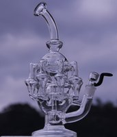 big bongs - New come Big quot Eight Recycler glass bong dabs new Percolator Cyclone Helix water pipe Such an intricate Recycler water pipe oil rig